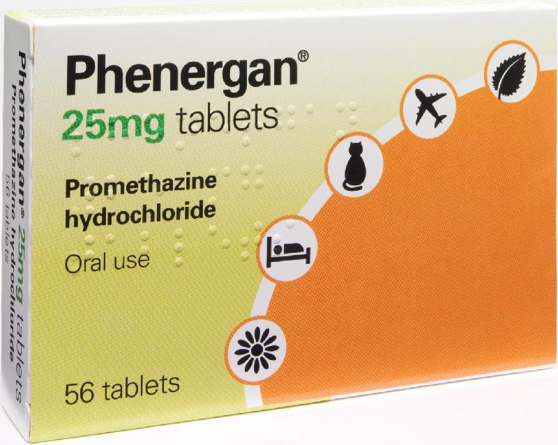 en la imagen hay una caja de tabletas de Phenergan 25mg